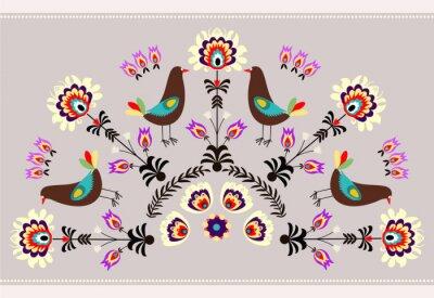 Obraz Wzór z ptakami