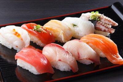 Obraz に ぎ り 寿司 の 盛 り 合 せ
