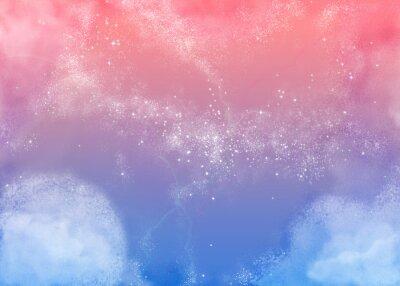 Obraz ふ わ ふ わ ピ ン ク の 空 Fluffy różowe niebo