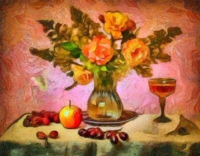 Obraz натюрморт с розами