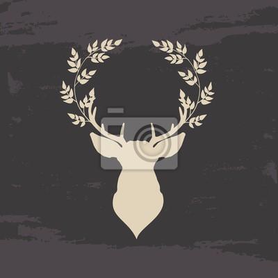 Obraz голова оленя