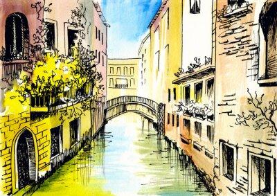 akwarela - сanal w Wenecji