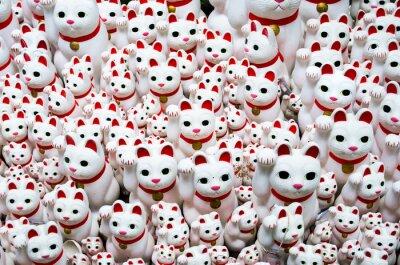 Obraz Goutokuji-Temple Beckoning kot, Tokio, Japonia (豪 徳 寺 の 招 き 猫)