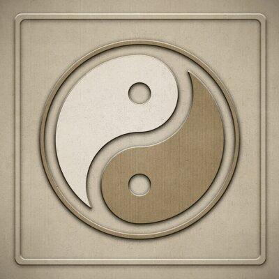 Obraz Yin Yang - Papier - tłoczenie