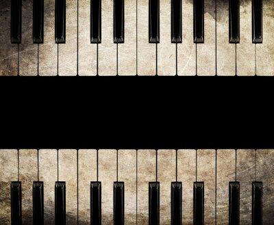 Obraz zabytkowe pianino izolowane