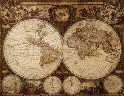 Obraz zabytkowych map