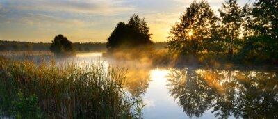 Obraz Zachód słońca nad rzeką