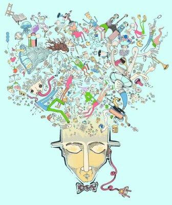 Obraz zajmują mój umysł niebieski