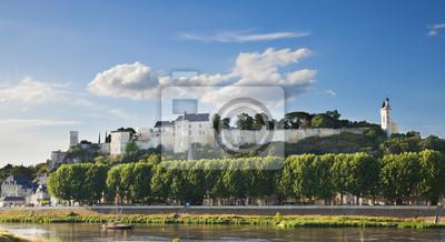 Zamek w Chinon, Francja