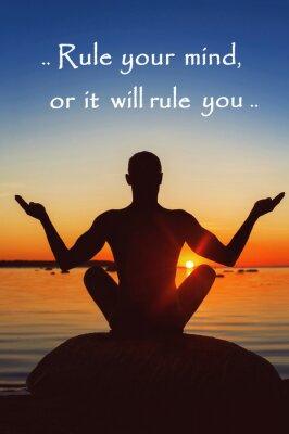 Obraz Zasada swój umysł, czy będzie to rządzisz. Motywacja dla siebie