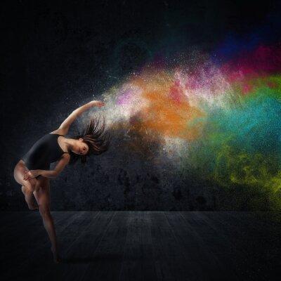 Obraz Zatańcz z kolorowych pigmentów