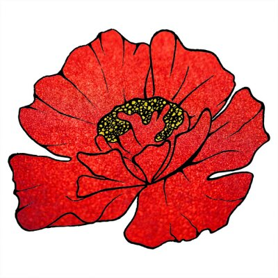Obraz Zatarcie czerwony brokat szkarłatne kwiaty maku tekstury tła