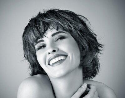 Obraz Zdjęcie pięknej kobiety śmiech