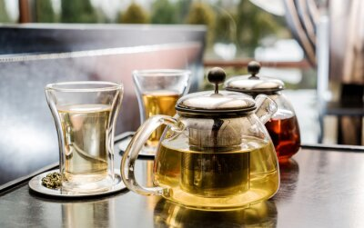 Obraz zestaw do herbaty