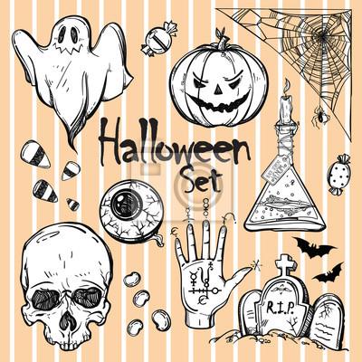 Obraz Zestaw ikon dla Halloween.