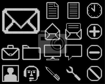 Obraz Zestaw ikon dla sieci web projektu.