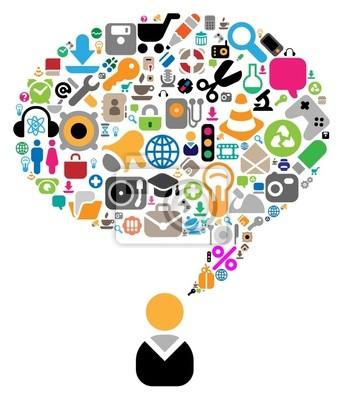 Obraz Zestaw ikon dla tematów rozmowy