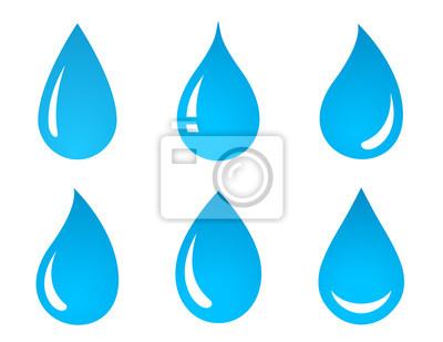 Obraz Zestaw ikon kropli wody