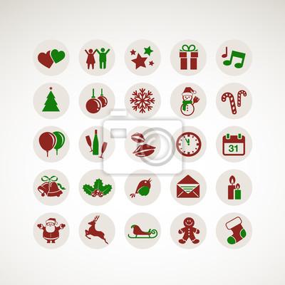 Obraz Zestaw ikon na Nowy Rok i Boże Narodzenie