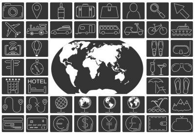 Obraz Zestaw ikon podróży