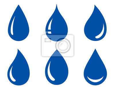 Obraz zestaw kropli wody
