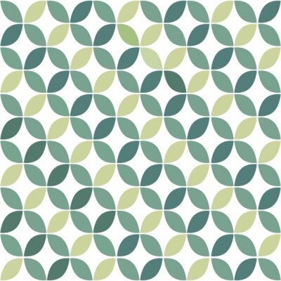 Obraz Zielona Geometryczny wzór retro bezszwowe