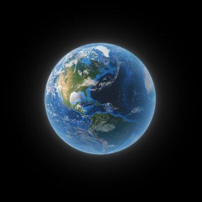 Obraz Ziemi z przestrzeni wykazujące Ameryki Północnej i Południowej