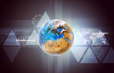 Obraz Ziemia z mapy świata