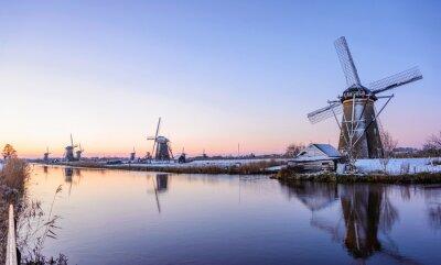 Obraz Zimowy poranek w Holandii