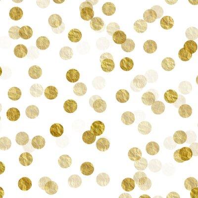 Obraz Złoto Dots Faux Folia metaliczne tło wzór tekstury