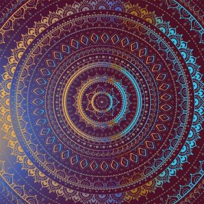 Obraz Złoto Mandala. Indian dekoracyjny wzór.