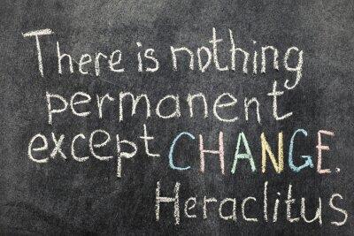 Obraz zmiana jest trwała