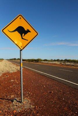 Obraz Znak kangura w Australii Południowej