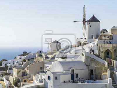 zobacz do młynów Oia na Santorini