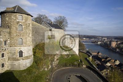 Zobacz na Cytadeli i rzeki Mozy w Namur, Belgia