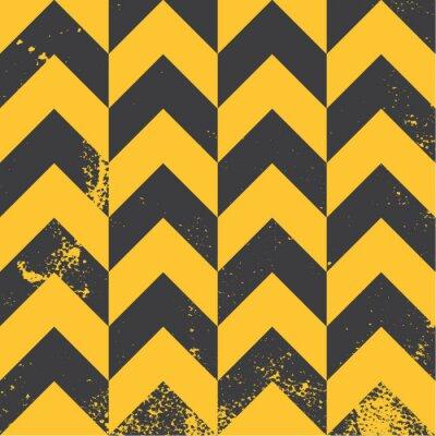 Obraz żółty Chevron tekstury wzór o udzielenie