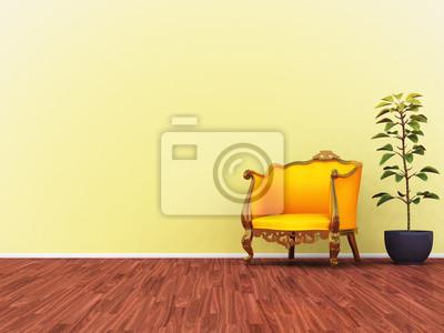 żółty sofa