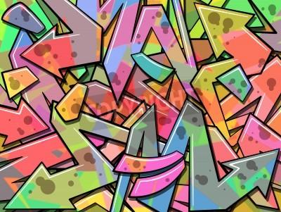 Plakat A Colorful Graffiti Background