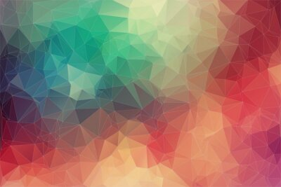 Plakat Abstract 2D geometric colorful background