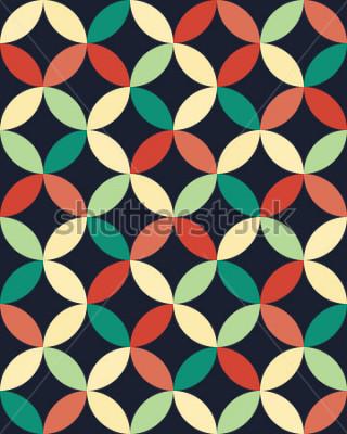 Plakat Abstract geometryczne hipster moda poduszka Koła wzór