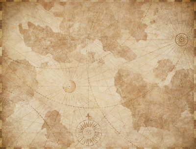 Plakat Abstract old nautical vintage map background
