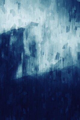 Plakat Abstract painting in monotone, digital illustration