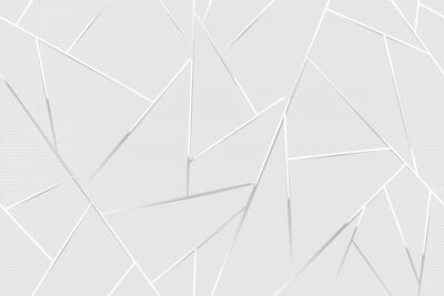 Plakat Abstract white chrome lines background