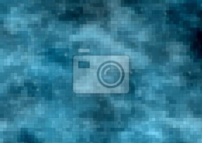 Abstrakcjonistycznego błękitnego piksla prostokąta kształta obwodu futurystyczny tło dla technologii, sieci, nowożytnego, komunikacyjnego tematu