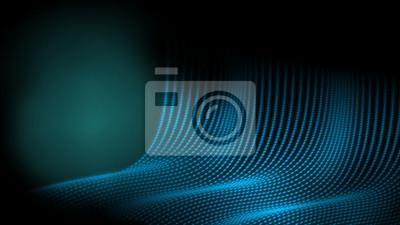 Abstrakcjonistyczny technologii kropki drutu ramy tło w błękitnym koloru temacie. Dawanie uczucia w jaskini