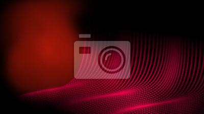Abstrakcjonistyczny technologii kropki drutu ramy wieloboka geometrii tło w czerwonego koloru temacie. Dawanie uczucia w jaskini