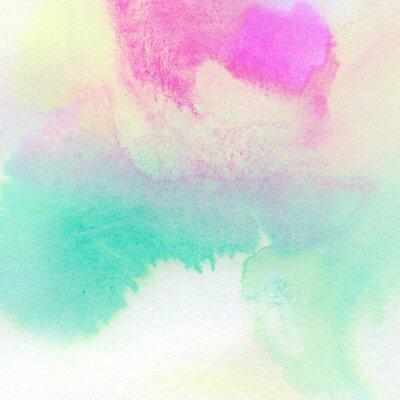 Plakat Abstrakcyjna kolorowe tło malowane akwarela