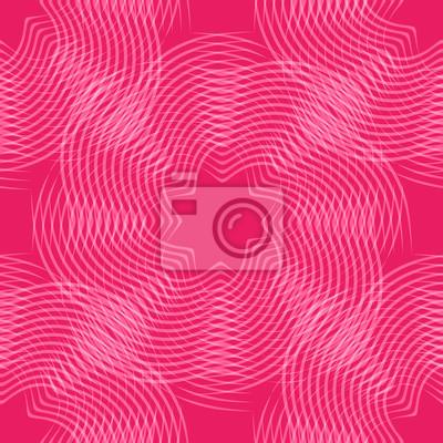 abstrakcyjne kształty liniowe, czerwony bez szwu tła, ilustracji wektorowych