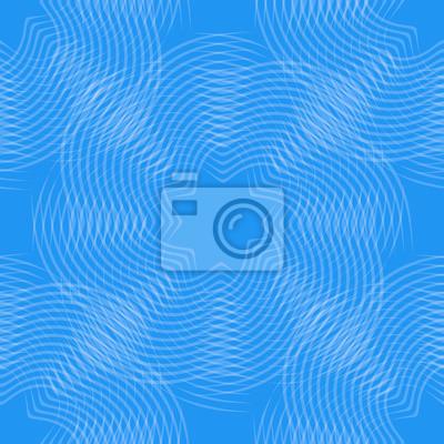 abstrakcyjne kształty liniowe, niebieski bez szwu tła, ilustracji wektorowych