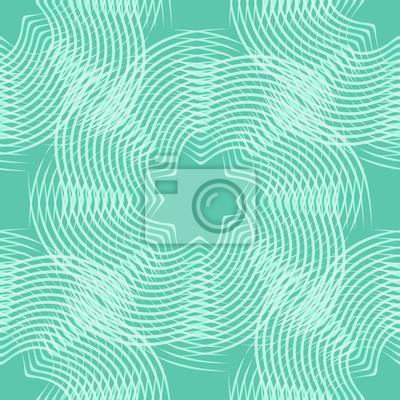 abstrakcyjne kształty liniowe, zielony bez szwu tła, ilustracji wektorowych